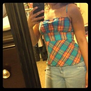 Charlotte Russe Tops - Colorful Plaid tank top! 😂
